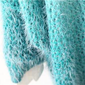New autumn green gradient knitted c..