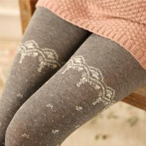 Bowknot lace tights